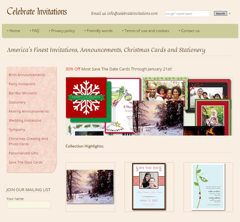 celebrate invitations